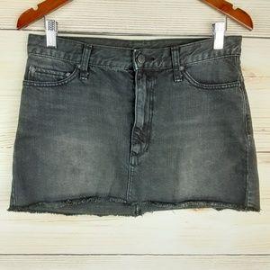 Free people Black wash Denim Mini-skirt  Size 4